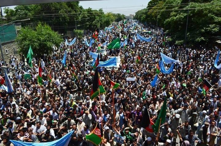 بزرگترین تظاهرات مدنی ضد تقلب در تاریخ افغانستان