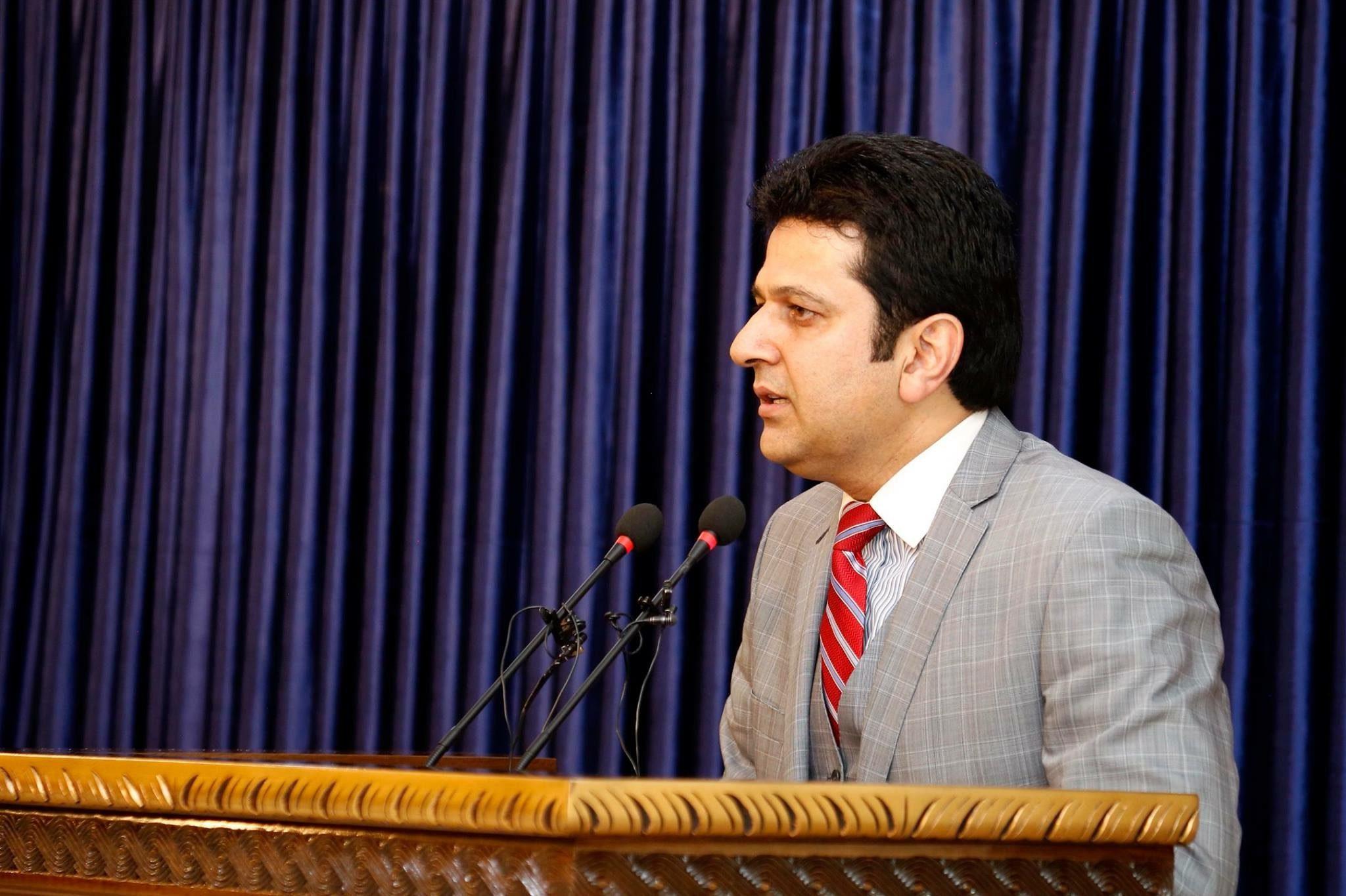 نشست خبری (۱) دکتور مجیب الرحمن رحیمی سخنگوی ریاست اجرائیه