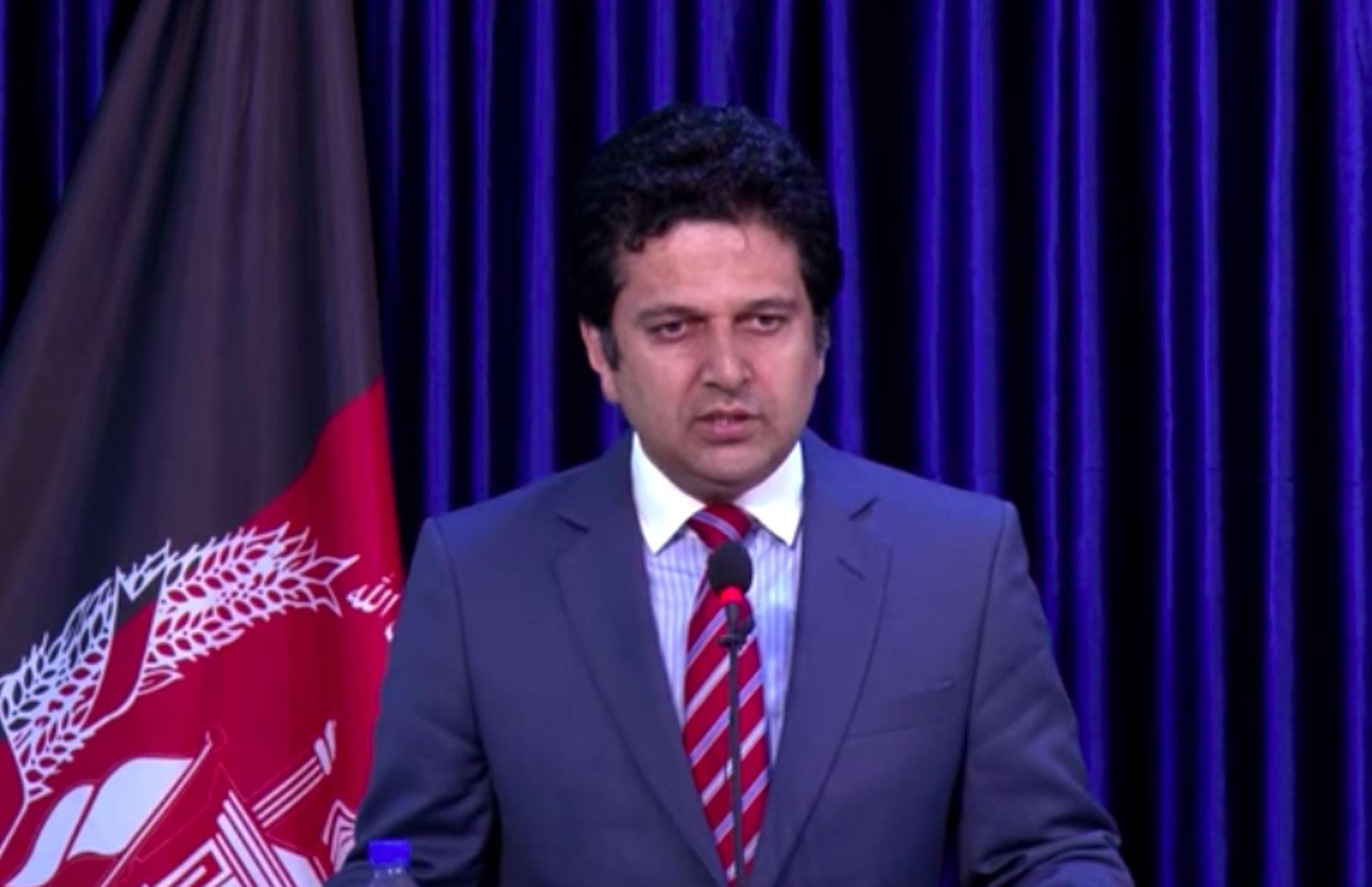 نشست خبری (۷) دکتور مجیب الرحمن رحیمی سخنگوی ریاست اجرائیه